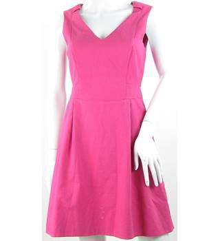 Karen Millen - Size: 10 - Pink - Textured Skater Dress