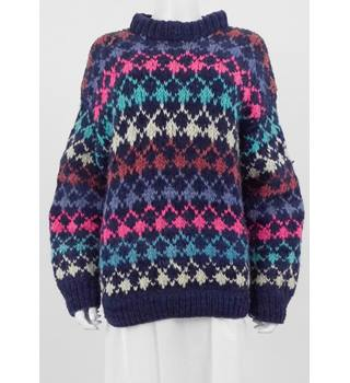 Handmade Size: Medium Multi-Coloured Jumper