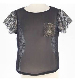 Ted Baker Size 6 Black Lace Top
