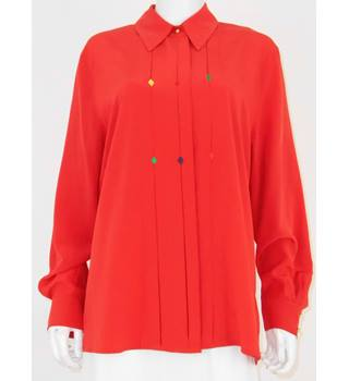 Basler Detailed Size 16 Red Blouse