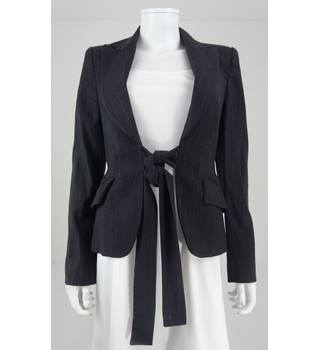 Zara Woman Size 10 Black Pinstriped Blazer