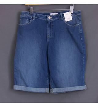 Ladies Marks & Spencer Shorts - Size: 14 - Blue - BNWT