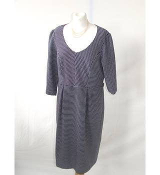 Pepperberry Blue Stripped Dress Pepperberry - Size: 18 - Blue - Knee length dress