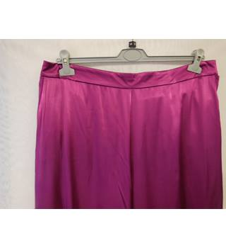 Women's Satin Trousers, size 18 M&S Marks & Spencer - Size: L - Purple