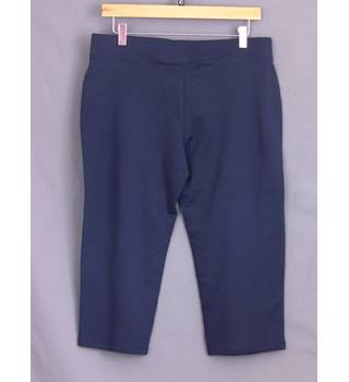 BNWOT Cropped Joggers M&S Marks & Spencer - Size: 12 - Blue
