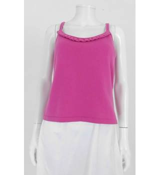 Saks Fifth Avenue Size L Hot Pink 100% Cashmere Camisole