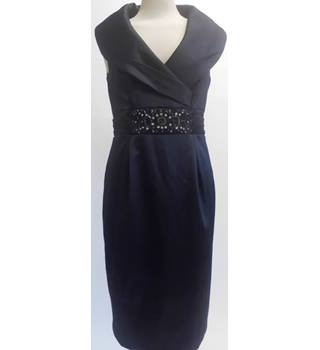 Eliza J Size:12 Black With Crystal Detail Waist Dress
