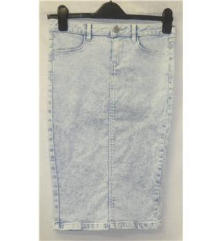 New Look - Size: 8 - Denim Pale Blue Pencil Skirt