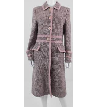 Laura Ashley Size 12 pink & brown wool blend coat
