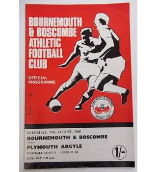 Bournemouth and Boscombe v Plymouth Argyle. 17th August 1968