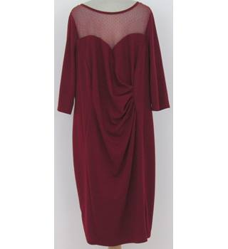 BNWT Scarlett & Jo at Evans Size:26 mulberry afternoon dress