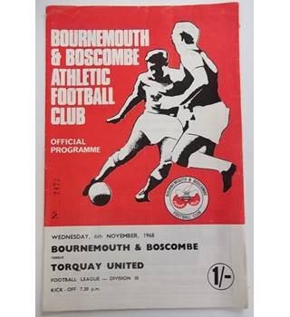 Bournemouth and Boscombe v Torquay United. 6th November 1968