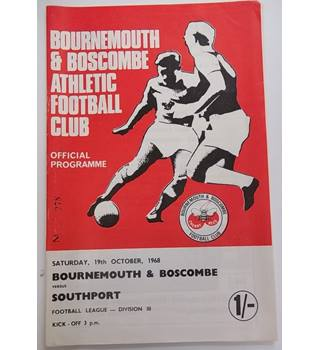 Bournemouth and Boscombe v Southport. 19th October 1968