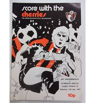 AFC Bournemouth v Plymouth Argyle. 11th January 1975