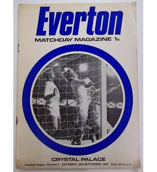 Everton v Crystal Palace. 26th September 1970