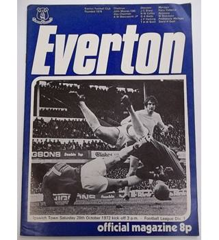 Everton v Ipswich Town. 28th October 1972
