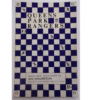 Queens Park Rangers v Southampton. 28th September 1968