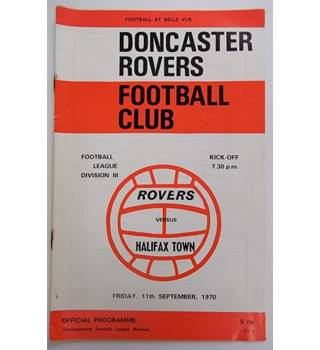Doncaster Rovers v Halifax Town. 11th September 1970