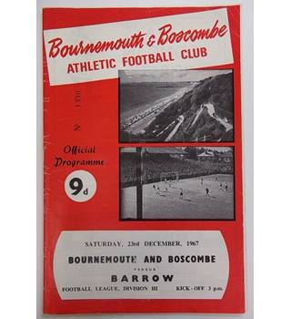 Bournemouth and Boscombe v Barrow. 23rd December 1967