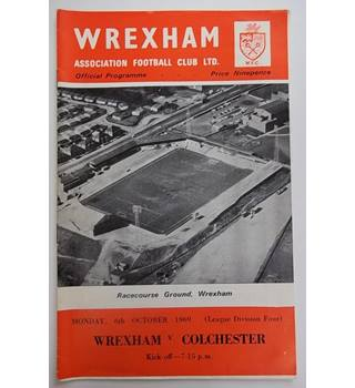 Wrexham v Colchester. 6th October 1969