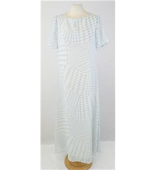Jaeger - size M, blue & white spotted long dress