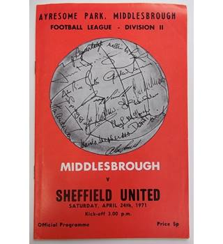 Middlesbrough v Sheffield United. 24th April 1971