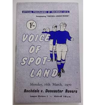 Rochdale v Doncaster. 16th March 1970