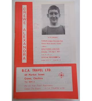 Crewe Alexandra v Southend United. 17th April 1971