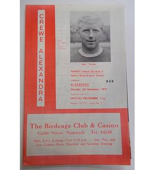 Crewe Alexandra v Aldershot. 5th September 1970