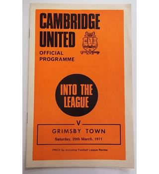 Cambridge United v Grimsby Town. 20th March 1971