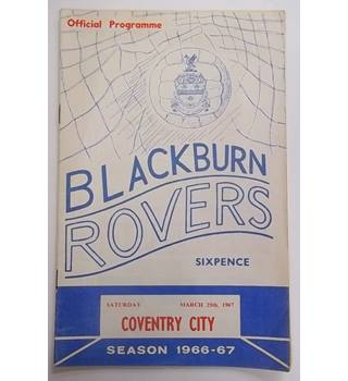 Blackburn Rovers v Coventry City. 25th March 1967