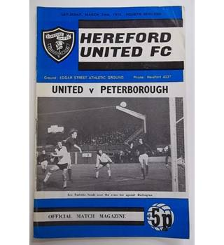 Hereford United v Peterborough. 24th March 1973