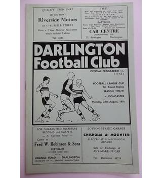 Darlington v Doncaster. 24th August 1970