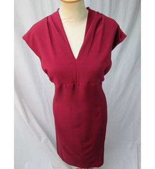 M&S Marks & Spencer Collection - Size: 22 - Burgundy - Knee length dress