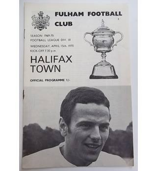 Fulham v Halifax Town. 15th April 1970