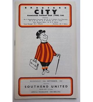 Bradford City v Southend United. 24th September 1969