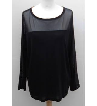 Whistles Black Mesh Top 12