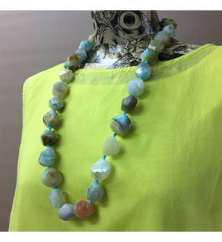 Agate Bead Necklace Unbranded - Size: Large - Multi-coloured - Necklace