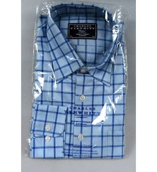 BNWT Charles Tyrwhitt Blue Check Shirt in XL size