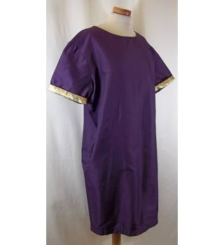S MAX MARA - Size: 16 - Purple - Knee length Dress
