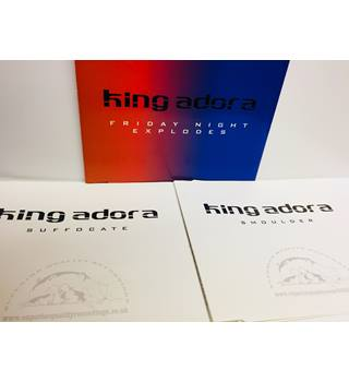 Friday night explodes/Smoulder/Suffocate 3 promo CD singles - King Adora