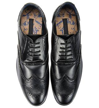 M & S - Mark's & Spencer's - Men's Leather Lace Up Brogues shoes - Black - Size: 11 [NEW WITHOUT TAGS]