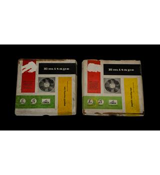 "Vintage Emitape 5"" Magnetic recording Tape - Magnetic recording tape [2 x tapes]"