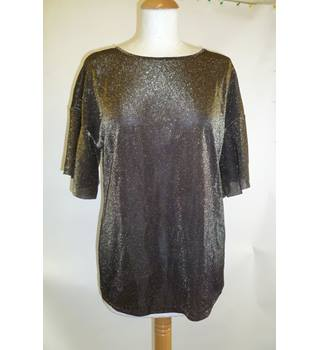 Brand new Warehouse size 12 Glittery Golden Top Warehouse - Size: 12 - Metallics