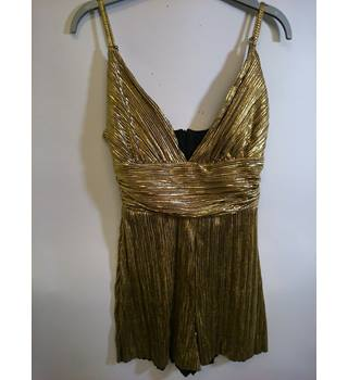 Missguided size 8 Gold Jumpsuit