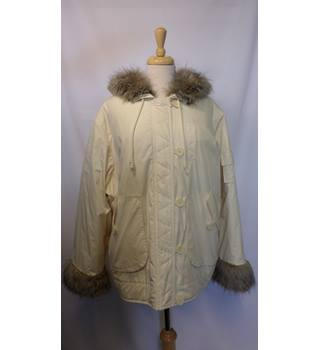 M&S Marks & Spencer - Size: 22 - Cream / ivory - Casual jacket / coat
