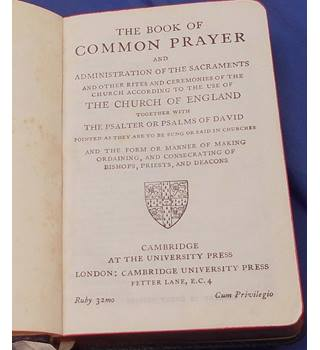 Book Of Common Prayer - Boxed