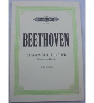 Beethoven - Selected Songs. Low Voice and Piano.