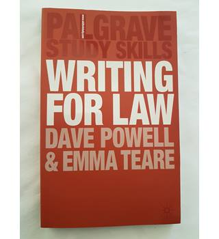 Writing for Law (Palgrave Study Skills)