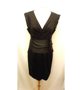 Warehouse - Size 14 - Black Neck Beaded Evening Dress